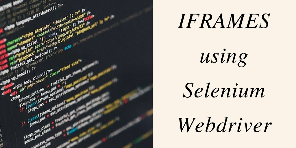 iFrames using Selenium webdriver