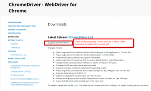 How to tell if ChromeDriver is compatible with Chrome Browser