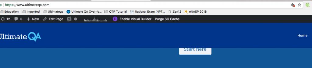 Element not clickable example