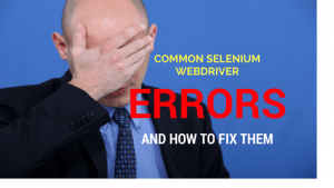 selenium webdriver errors