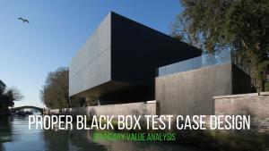 learn proper black box test case design - boundary value analysis