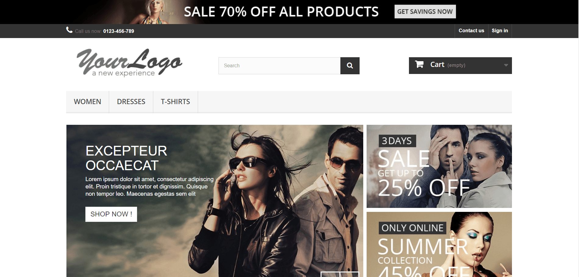 a very nice fake ecommerce ite to practice automation testing