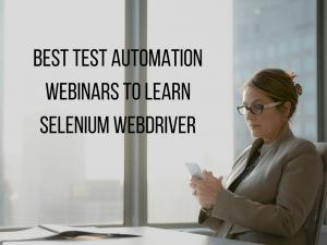 best test automation webinars