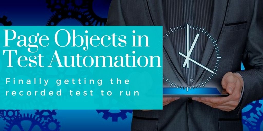 Page objects in test automation course shows how to finally get the test to run
