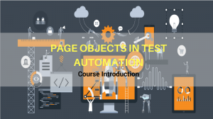 page objects in test automation course introduction
