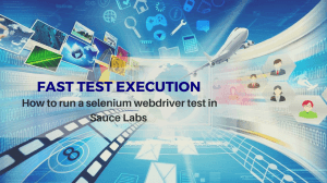 How to run a selenium webdriver test in sauce labs
