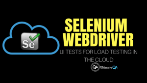 how to use selenium ui tests for load testing in the cloud