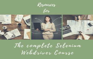 Resources page for complete Selenium webdriver course