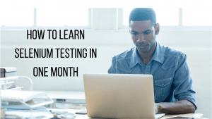 learn selenium testing