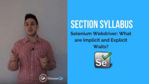 selenium webdriver explicit and implicit waits section syllabus
