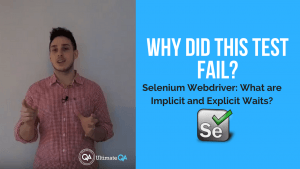 why did this test fail? Learn from this selenium webdriver implicit and explicit waits course