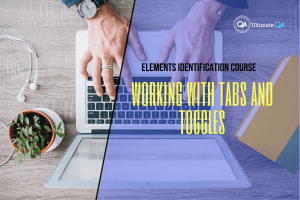 Working with tabs and toggles of the elements identification course