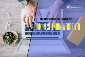 DOM in selenium webdriver of the elements identification course