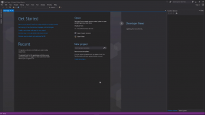 Visual Studio community edition dark theme fully installed
