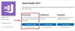 download visual studio community edition