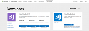 go to this url to download visual studio