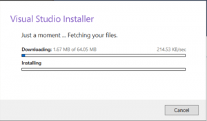 install visual studio screenshots
