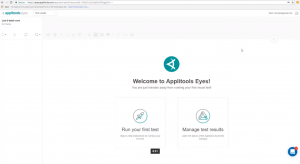applitools welcome page