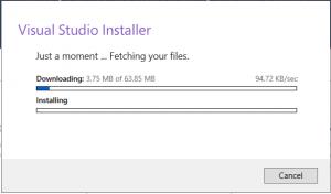 installing visual studio