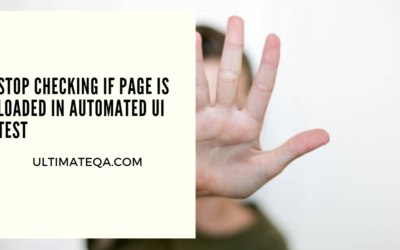 Stop Checking If Page Is Loaded In Automated UI Test