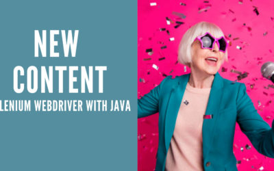 New Content- Selenium WebDriver with Java