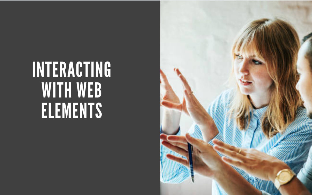 Interacting with Web Elements